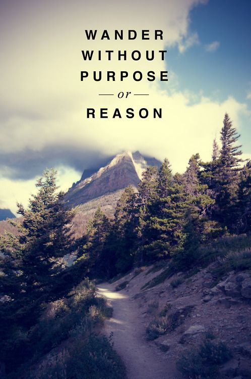 Wander without purpose quote
